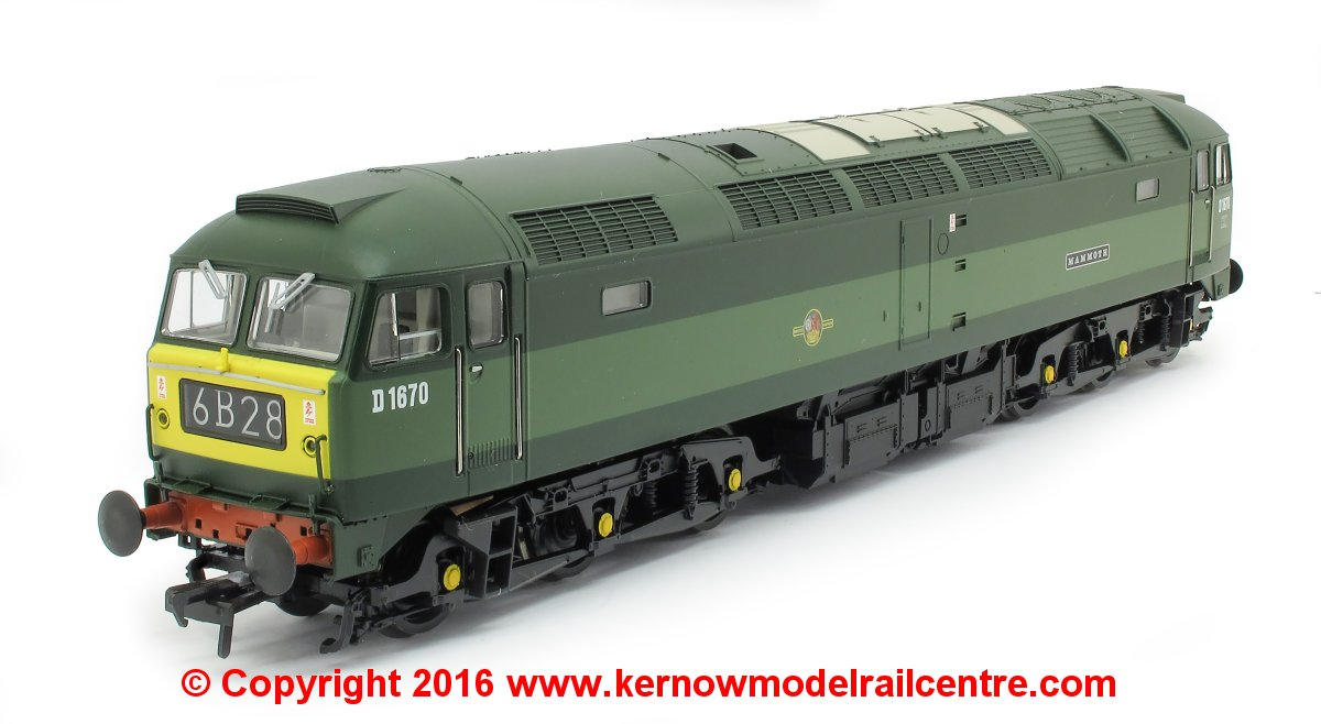 "31-650LDS Bachmann Class 47 Diesel Locomotive number D1670 named ""Mammoth"" in BR Two Tone Green livery"