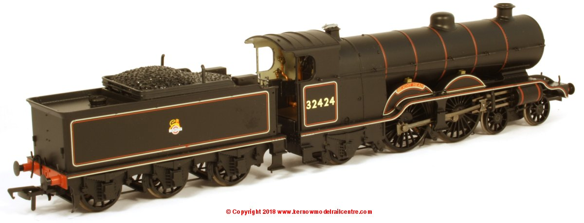 "31-921 Bachmann Atlantic H2 Class 4-4-2 Steam Locomotive number 32424 named ""Beachy Head"" in BR Black livery with early emblem"