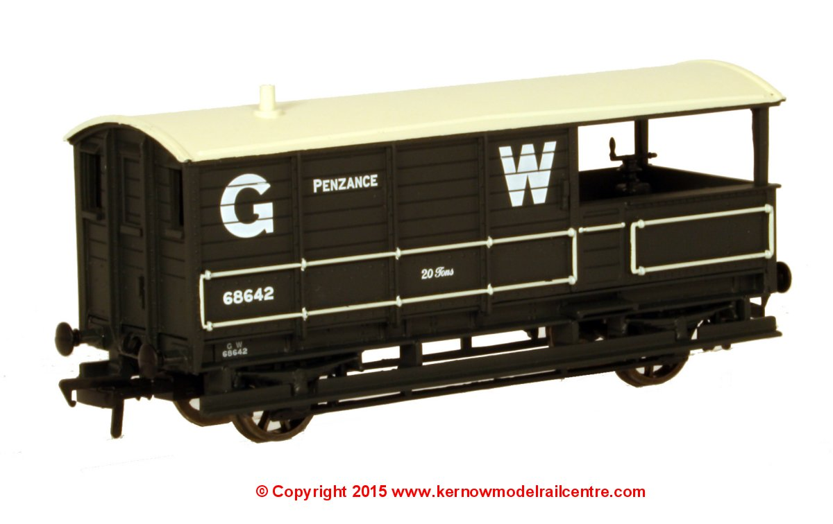 "33-300X Bachmann 20 Ton Toad Brake Van number 68642 in GW Grey livery with ""Penzance"" branding"