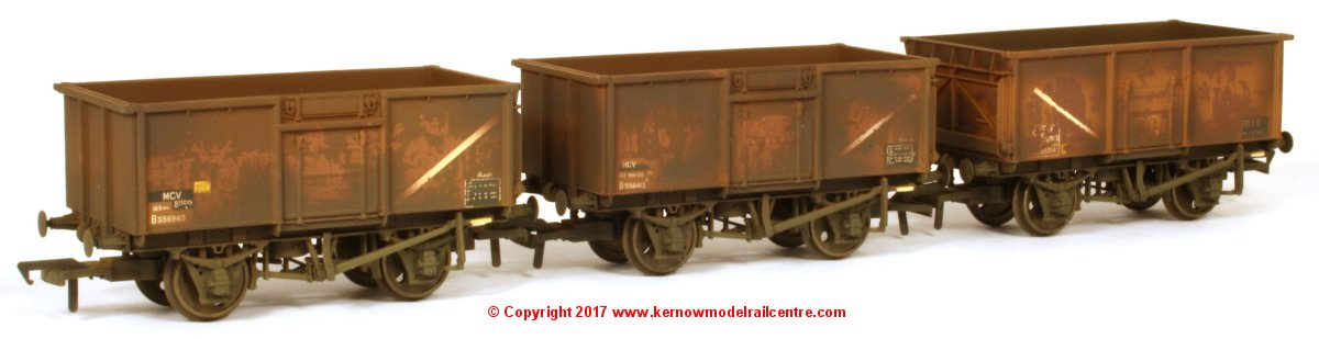 37-238Z Bachmann 16 Ton Steel Mineral Wagon Triple Pack - Weathered