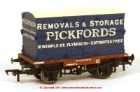 37-954 Bachmann Conflat number B708016 in BR Bauxite livery with BD Container - Pickfords Whimple Devon