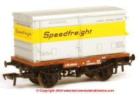 37-991 Bachmann Conflat number B503040 in BR Bauxite livery with BA Vented Container 'Speedfreight'
