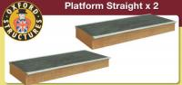 OS76R006 Oxford Structures Straight Platform x 2