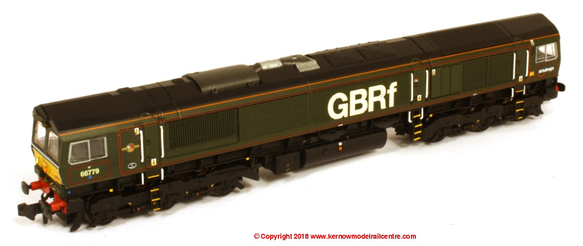 "371-398 Graham Farish Class 66 Diesel Locomotive number 66 779 named ""Evening Star"" in GBRf Green livery"