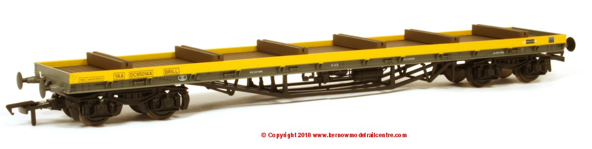 38-153 Bachmann 80 Tonne glw BDA Bogie Bolster Wagon YAA number DC950144 BRILL in BR Departmental Yellow livery