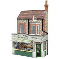 44-284 Bachmann Scenecraft Low Relief Lovett's Lamb and Meats' Butcher