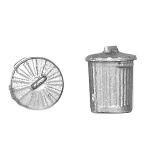 44-522 Bachmann Old Style Domestic Dustbins (x10)