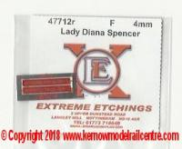 47712r Shawplan Extreme Etchings Name Plates - Lady Diana Spencer