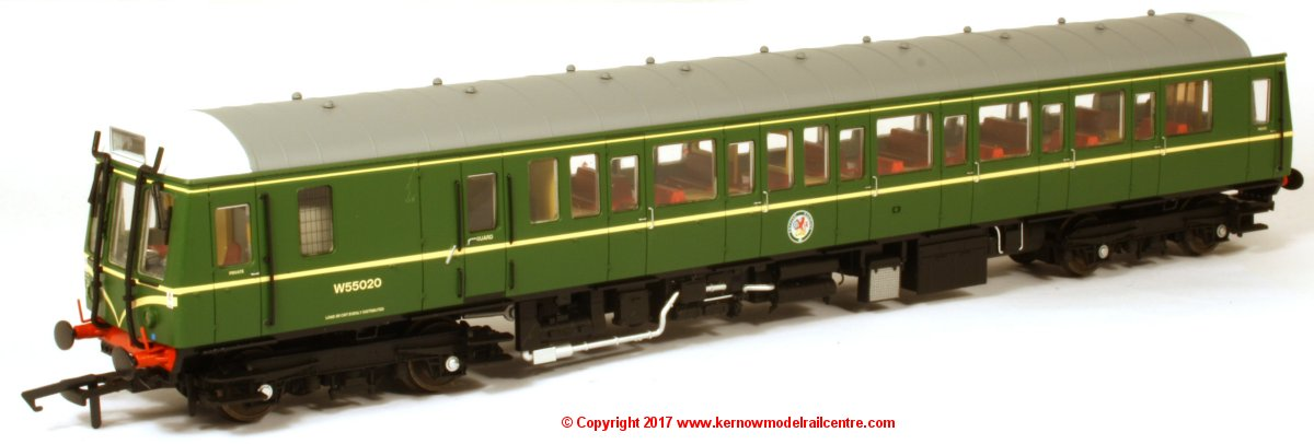 4D-009-001 Dapol Class 121 Single Car DMU number W55020 in BR Green livery with speed whiskers