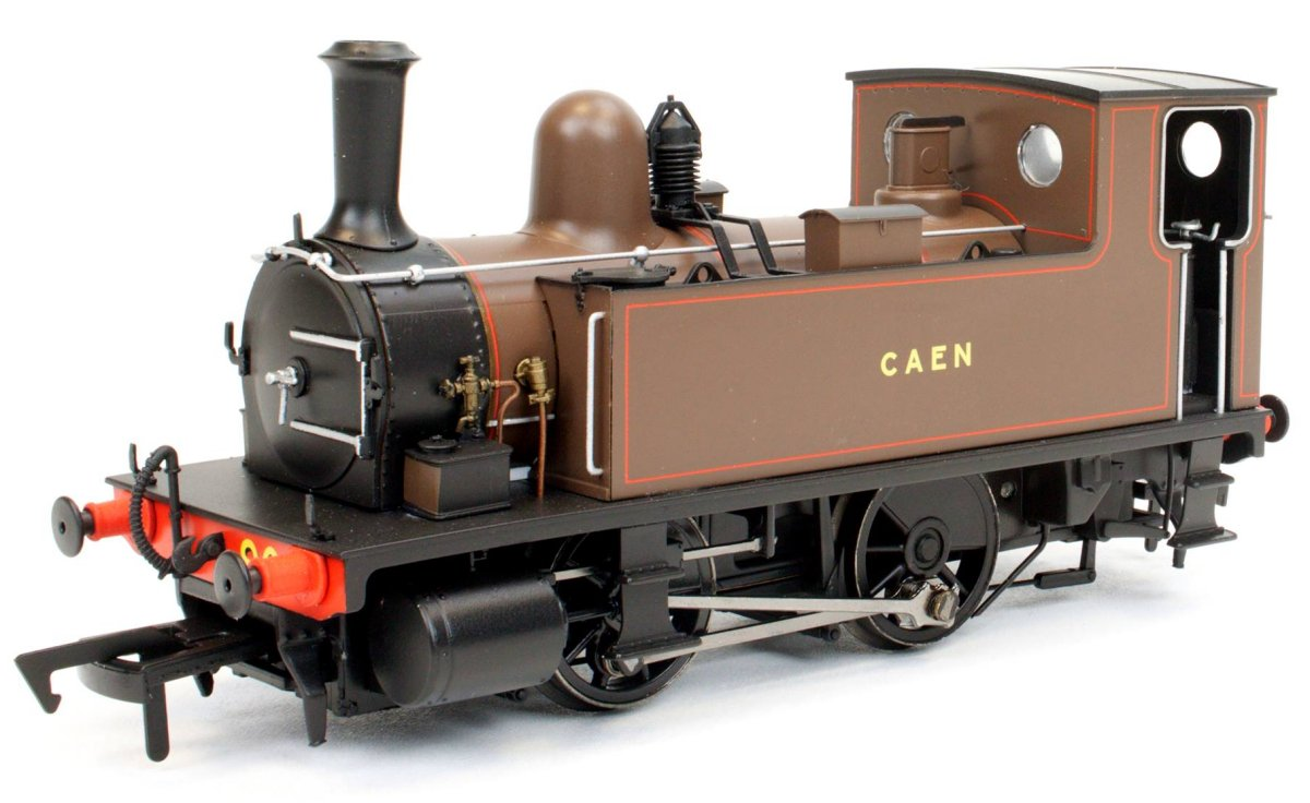 "4S-018-002 Dapol B4 0-4-0T Steam Locomotive number 90 named ""Caen"" in Southampton Docks Brown livery"