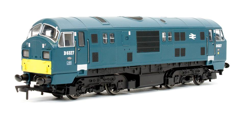 4D-012-006 Dapol Class 22 Diesel Locomotive number D6327 in BR Blue livery with small yellow panels and headcode boxes