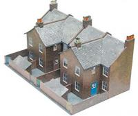 C5 Superquick Low Relief Four Redbrick Terrace Backs
