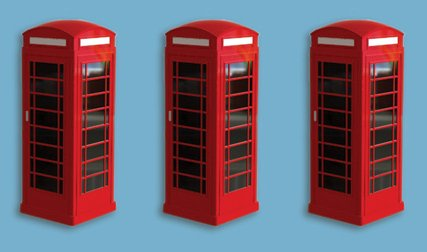 5190 model scene Telephone Boxes (Pack of 3)