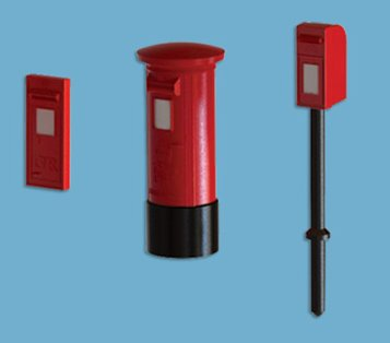5191 model scene Post Boxes (Pack of 9).