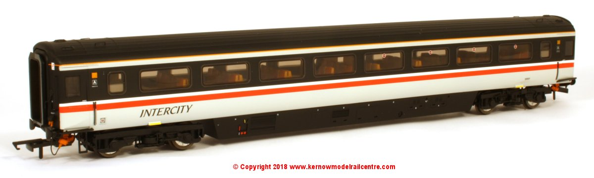 763TO002C Oxford Rail Mk3a Open Standard Coach number 12022 in Intercity Swallow livery