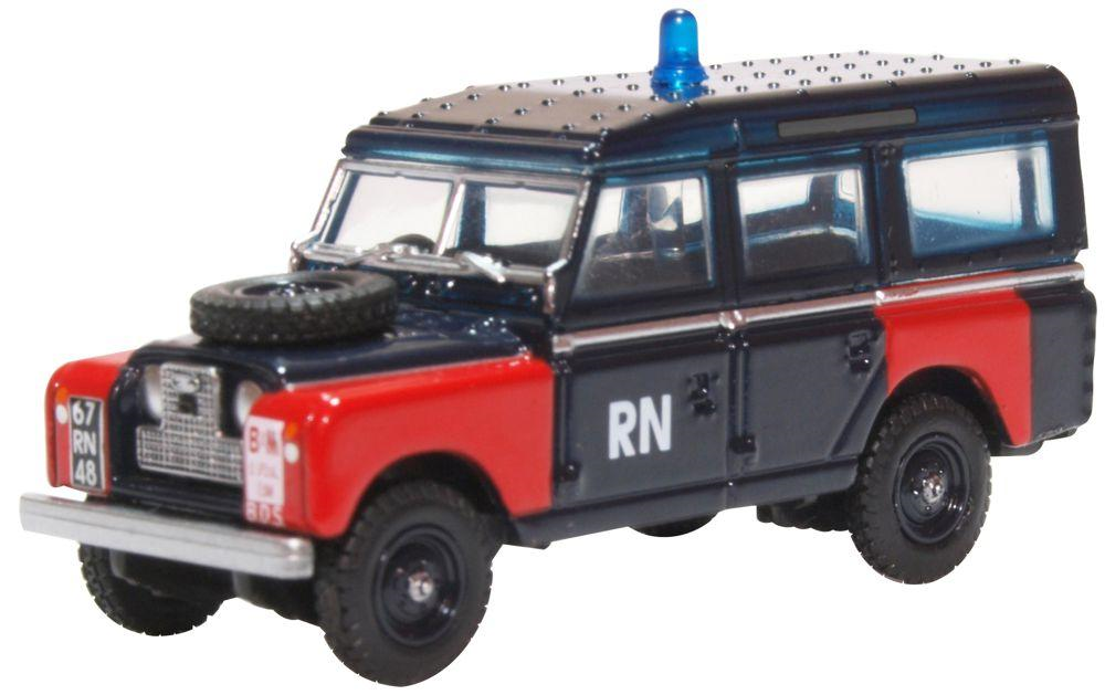 76LAN2021 Oxford Diecast Land Rover Series II LWB Station Wagon Navy Bomb Disposal