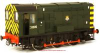 7D-008-008 Dapol Class 08 Diesel Locomotive number D3305 in BR Green livery with early emblem and wasp stripes