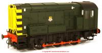 7D-008-008U Dapol Class 08 Diesel Locomotive in BR Green livery with early emblem - unnumbered