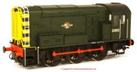 7D-008-009 Dapol Class 08 Diesel Locomotive number D3002 in BR Green livery with Late Crest and wasp stripes