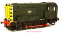 7D-008-009U Dapol Class 08 Diesel Locomotive in BR Green livery with Late Crest and wasp stripes - unnumbered