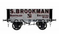 7F-052-001 Dapol 5 Plank Wagon 9ft Wheelbase number 30 - S. Brookman Montpelier and Bristol