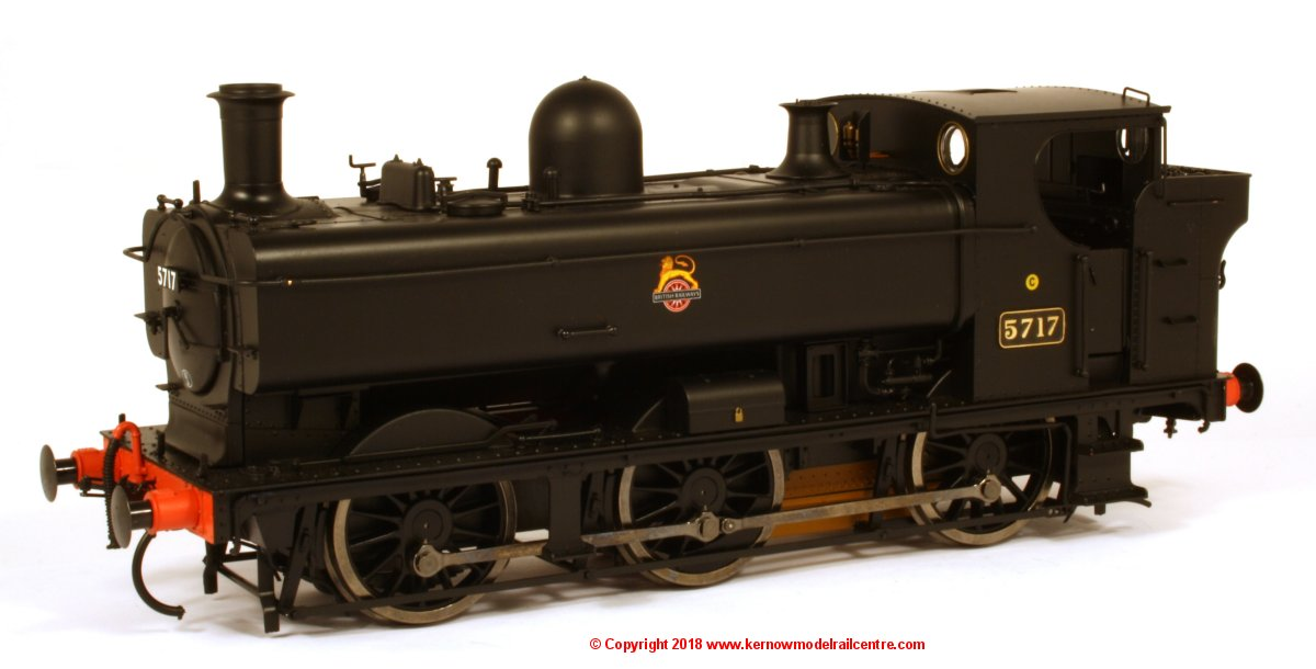 7S-007-001 Dapol 57xx Pannier Tank Steam Locomotive number 5717 in BR Black livery with early emblem