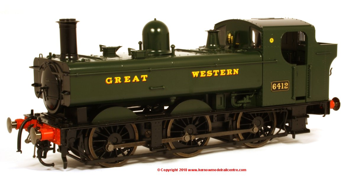7S-024-001 Dapol 64xx Pannier Tank Steam Locomotive number 6412 in GWR Green livery