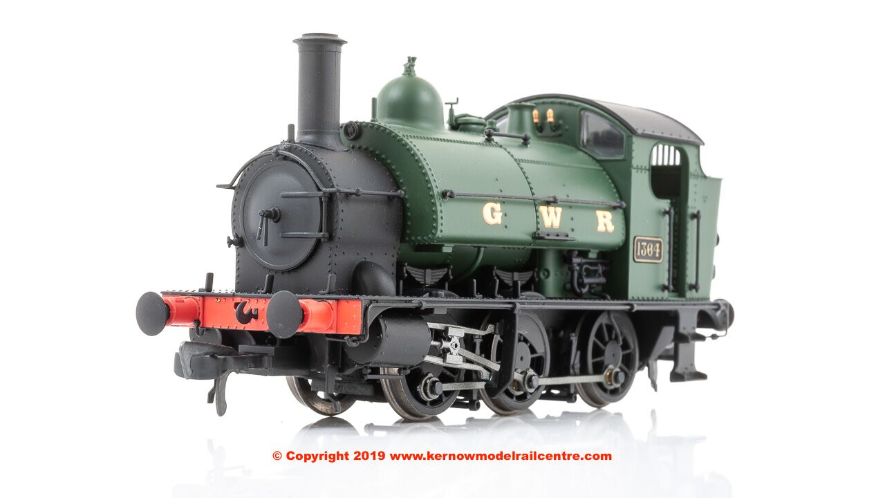 K2204 DJ Models 0-6-0 1361 Steam Locomotive number 1364 in GWR Green livery with GWR lettering