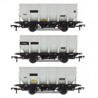 ACC1008-HUO-Q Accurascale British Railways 24.5-ton HOP24 / HUO Coal Hopper Wagon - Three wagon multi-pack - Grey pre-TOPS Pack Q