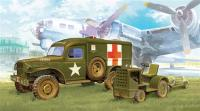 PKAY13403 Pocketbond WWII US Ambulance & Towing Tractor