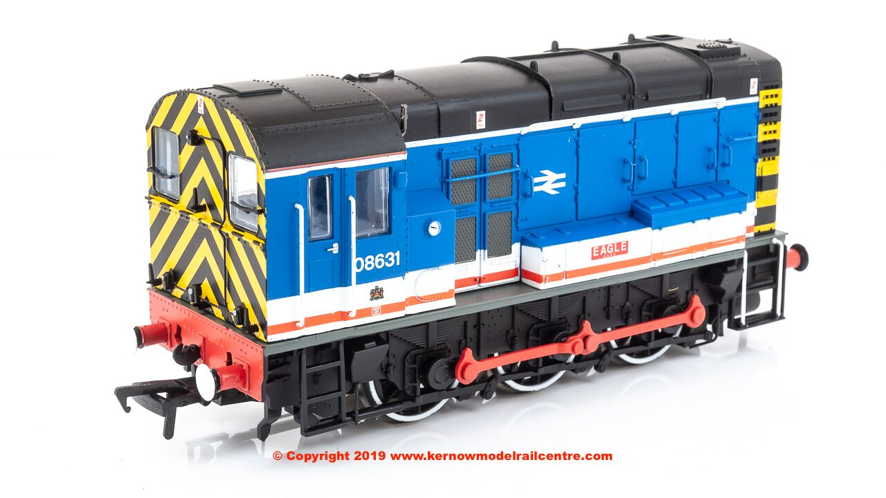 "32-109 Bachmann Class 08 Diesel Shunter number 08 631 named ""Eagle"" in Network SouthEast livery"