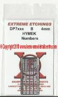 DP7xxx Shawplan Extreme Etchings Cast Numbers - Hymek