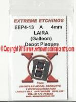 EEP4-13 Shawplan Extreme Etchings Depot Plaques - Plymouth Laira (Pack of 2)