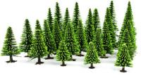 GM125 Gaugemaster 00 Assorted Spring Fir Trees (Pack of 25)