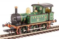 H4-P-001 Hattons P Class 0-6-0T Steam Locomotive number 178 in SECR Full Lined Green livery