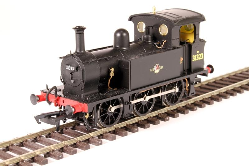 H4-P-008 Hattons P Class 0-6-0T Steam Locomotive number 31323 in BR Black livery with Late Crest