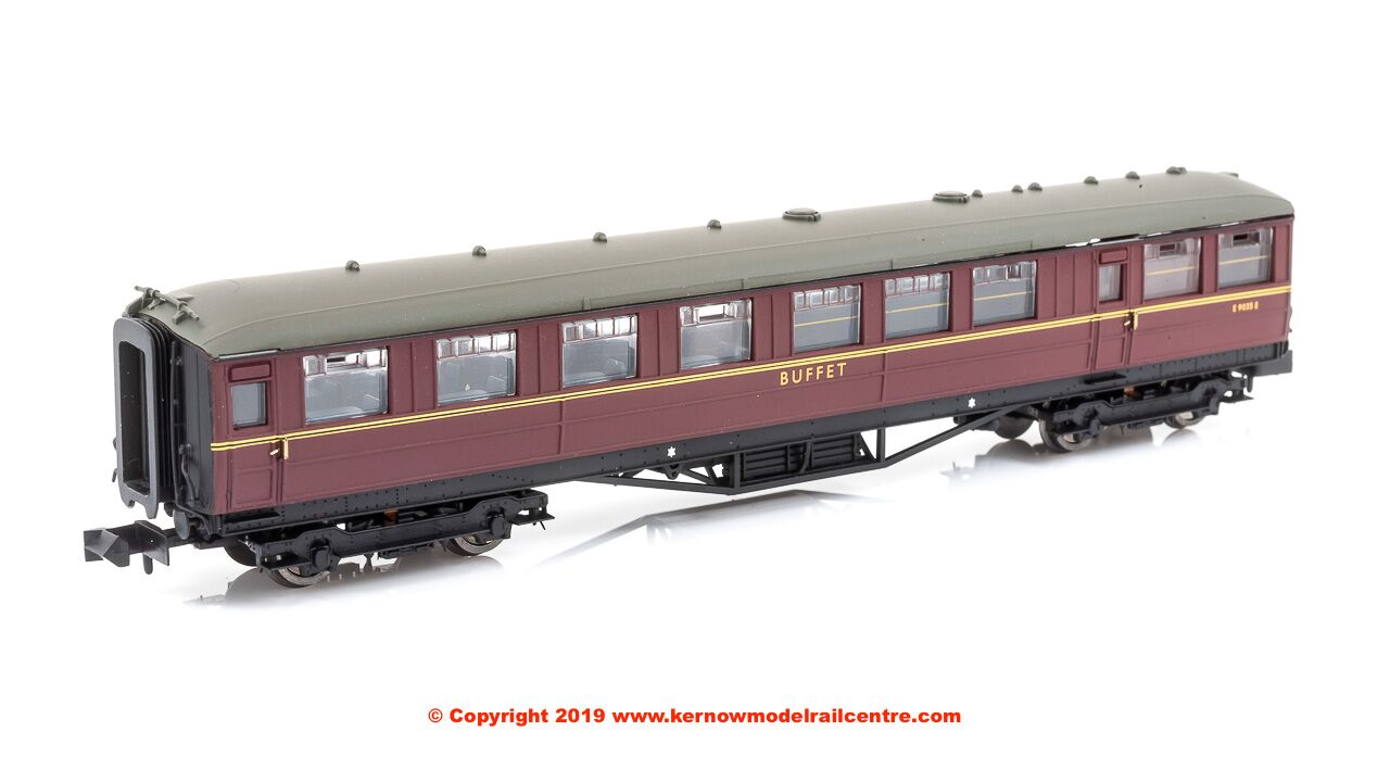 2P-011-372 Dapol Gresley Buffet Coach number E9035E in BR Maroon livery