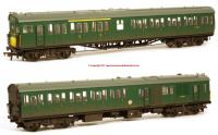 31-236A Bachmann Class 205 2 Car Thumper DEMU Set number 1121 in BR Green livery with Small Yellow Panel and weathered finish