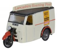76TV006 Oxford Diecast Tricycle Van Lancashire Evening Post.