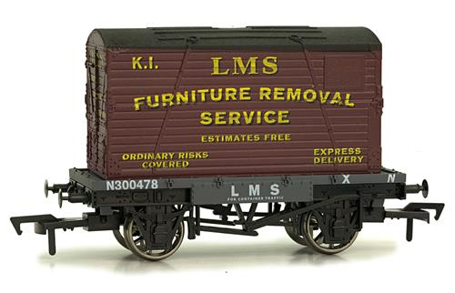 Furniture Removal Services : F dapol conflat wagon number n in lms grey