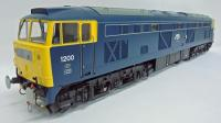 "5352 Heljan Class 53 Diesel Locomotive number 1200 ""Falcon"" in BR Blue with full yellow ends"