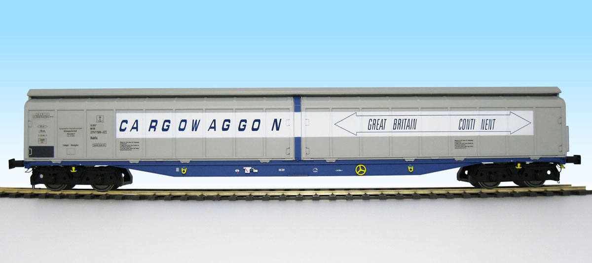 5053 Heljan Cargowaggon number 2797 589 in GB - Continent livery