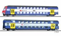 70005 Tillig HO Double deck wg.-set SBB
