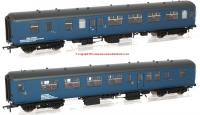 39-002 Bachmann Twin Pack BR Mk2A BFK HST Barrier Vehicles in BR Blue livery