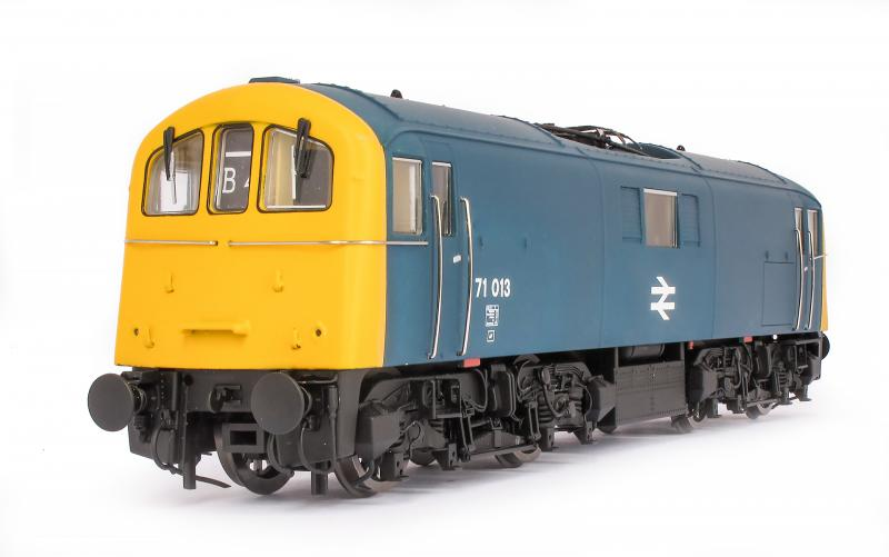 OO71-004 DJ Models Class 71 Electric Locomotive number 71 013 in BR Blue livery with full yellow ends