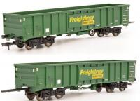 4F-025-005 Dapol MJA Bogie Ballast Wagon number 502019- 502020 in Freightliner Heavy Haul livery