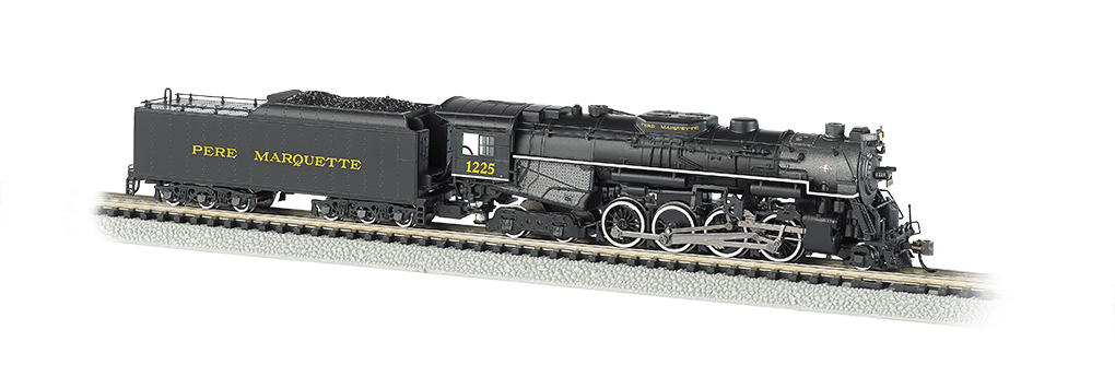50955 Bachmann 2-8-4 Berkshire Steam Locomotive number 1225 - Pere Marquette