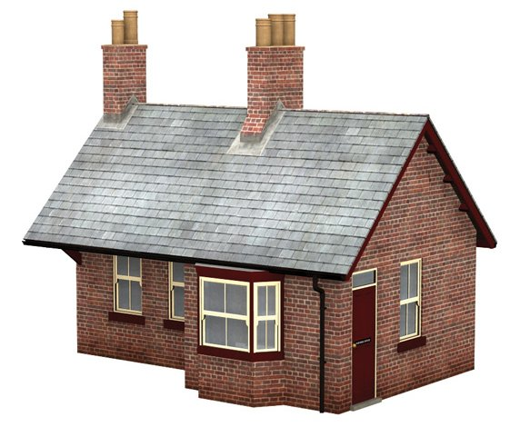 44-0024 Bachmann Scenecraft Brick Station Waiting Room Building