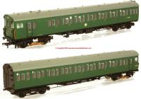 31-379 Bachmann 2EPB 2 Car EMU Set number 5771 in BR Green livery with Small Yellow Panel