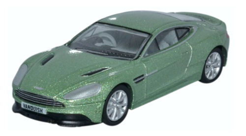 76AMV001 Oxford Diecast Aston Martin Vanquish Coupe Appletree Green